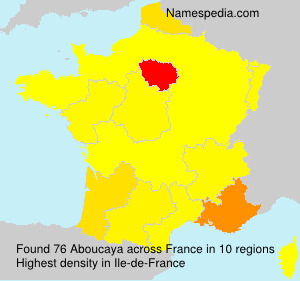 Surname Aboucaya in France