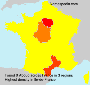 Surname Abouo in France