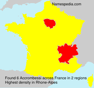 Surname Accrombessi in France