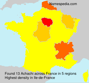 Surname Achachi in France