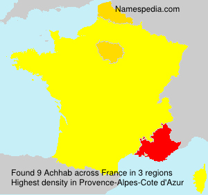 Surname Achhab in France