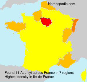 Surname Adeniyi in France
