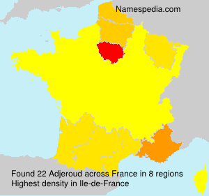 Surname Adjeroud in France