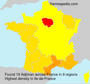 Surname Adjiman in France