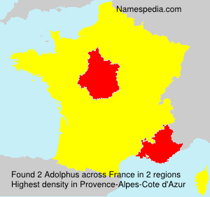 Surname Adolphus in France