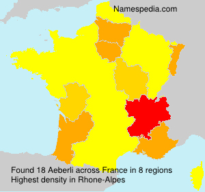 Surname Aeberli in France
