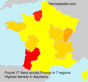 Surname Aera in France