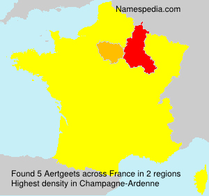 Surname Aertgeets in France