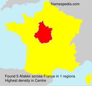 Surname Afakkir in France