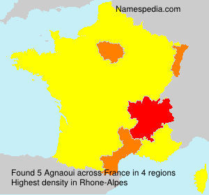 Surname Agnaoui in France