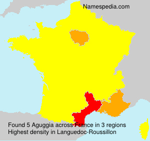Surname Aguggia in France
