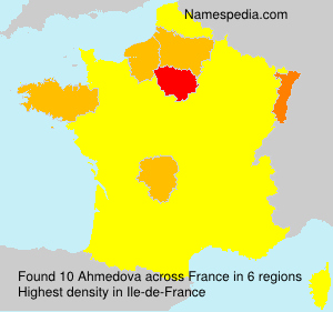 Surname Ahmedova in France