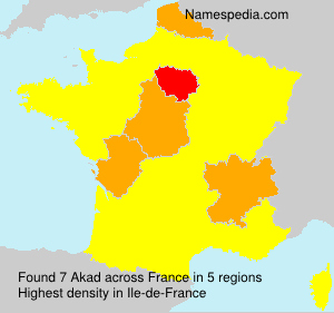 Surname Akad in France