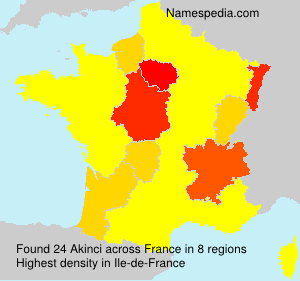 Surname Akinci in France