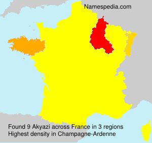 Surname Akyazi in France