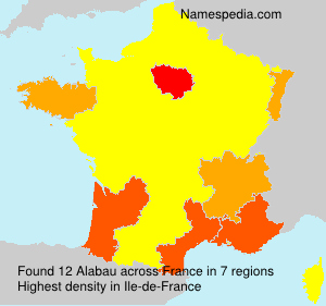 Surname Alabau in France
