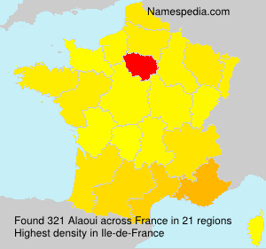 Surname Alaoui in France