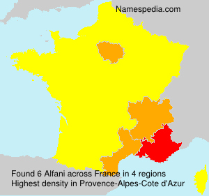 Surname Alfani in France