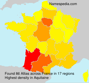 Surname Allias in France