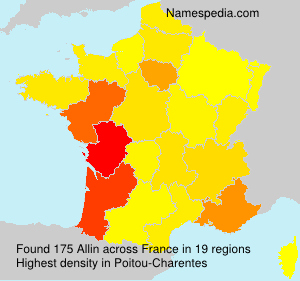 Surname Allin in France