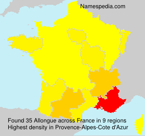 Surname Allongue in France