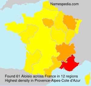 Surname Aloisio in France