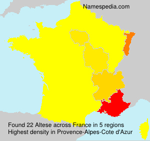 Surname Altese in France