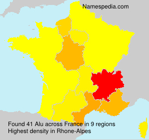 Surname Alu in France