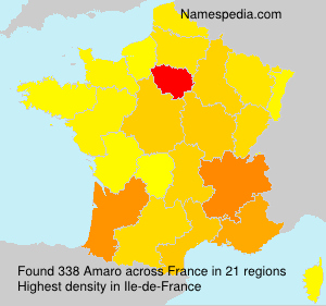 Surname Amaro in France
