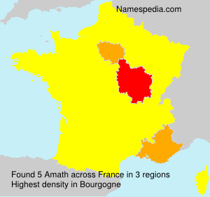 Surname Amath in France