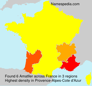 Surname Amatller in France