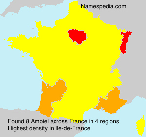 Surname Ambiel in France