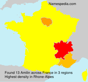 Surname Amilin in France