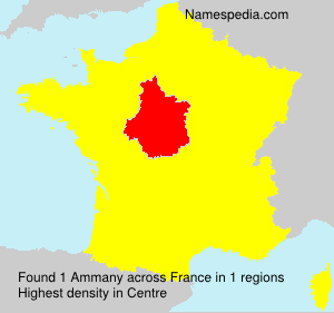 Surname Ammany in France