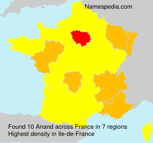 Surname Anand in France