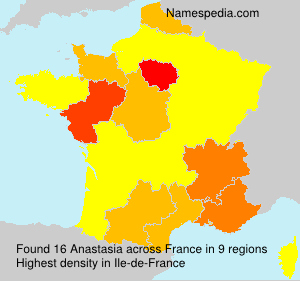 Surname Anastasia in France