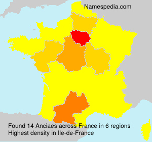 Surname Anciaes in France