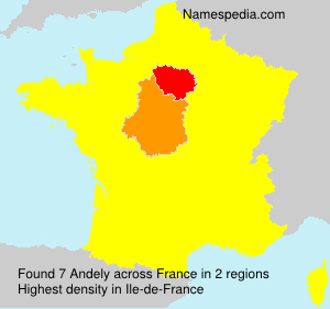 Surname Andely in France