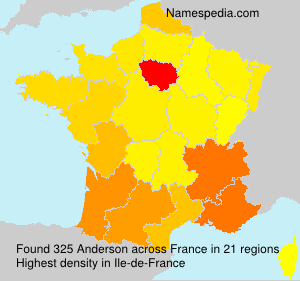 Surname Anderson in France
