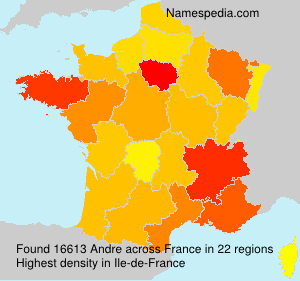 Surname Andre in France