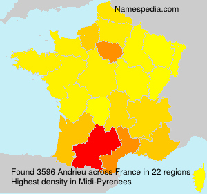 Surname Andrieu in France