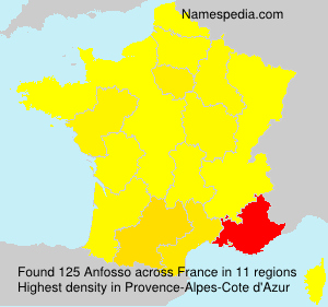 Surname Anfosso in France