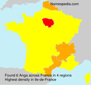 Surname Anga in France