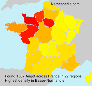 Surname Angot in France