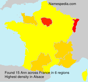 Surname Ann in France