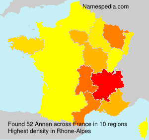 Surname Annen in France