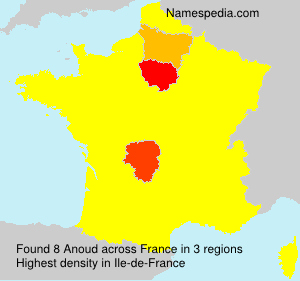 Surname Anoud in France
