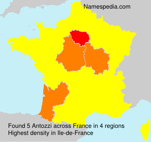 Surname Antozzi in France