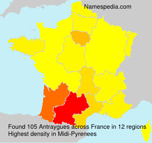 Surname Antraygues in France