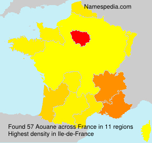 Surname Aouane in France